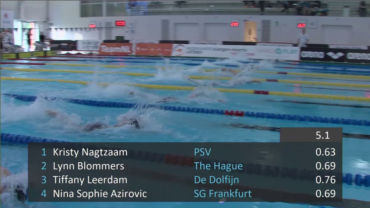 Swimming Pool Frankfurt 32 2 Women 50 M Freestyle Swim Cup Den Haag 2019