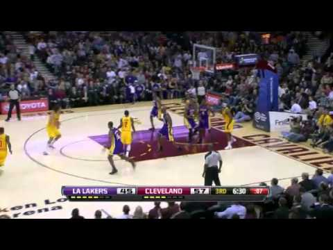 Los Angeles Lakers vs. Cleveland Cavaliers Full Highlights 11 Decemeber 2012