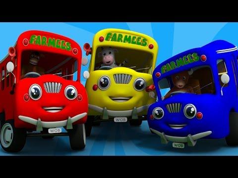 wheels on the bus plus more   nursery rhymes   farmees   kids songs   3d rhymes   childrens rhymes