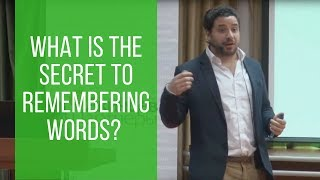 What is the secret to remembering words? - Masterclass in Russia
