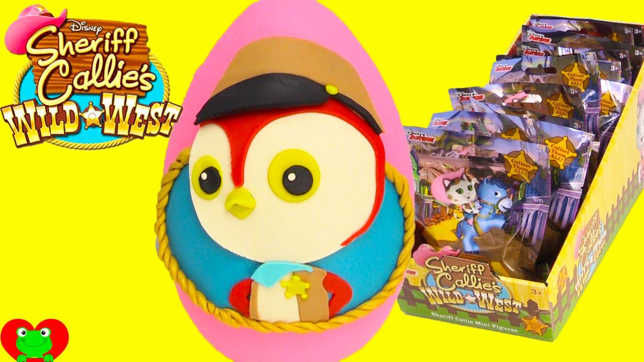 Sheriff Callie S Wild West Deputy Peck Play Doh Surprise Egg Toy Genie