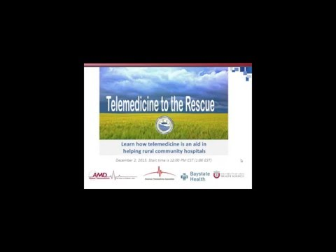Archived Webinar: Telemedicine to the Rescue Rural Hospitals