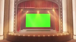 Театральный занавес: футаж на хромакей hd