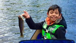 rainbow trout fishing at lost lake clatsop county oregon june 2016 hd