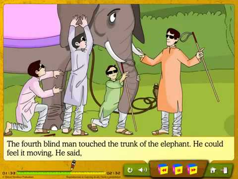 Six Blind Men English Short Story Funny Story, Opinion Story, Moral Story