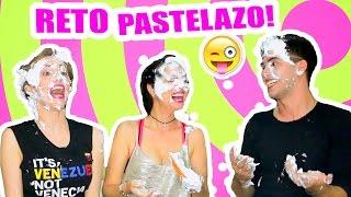 RETO EXTREMO PASTELAZO en la CARA! Sandra Cires ft Juan de Dios Pantoja y Katie Angel TV
