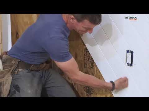 Arauco Installing Shiplap - YouTube