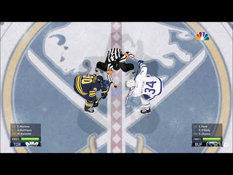NHL 18 - Buffalo Sabres vs Toronto Maple Leafs - Gameplay (HD) [1080p60FPS]