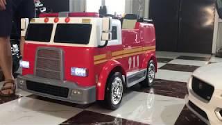 Пожарная машина - детский развлекательный комплекс! ПОЛНЫЙ ОБЗОР видео детского электромобиля