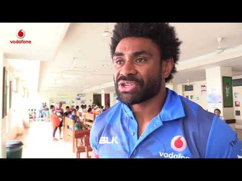Vodafone Fiji Bati players visit CWM Children's ward