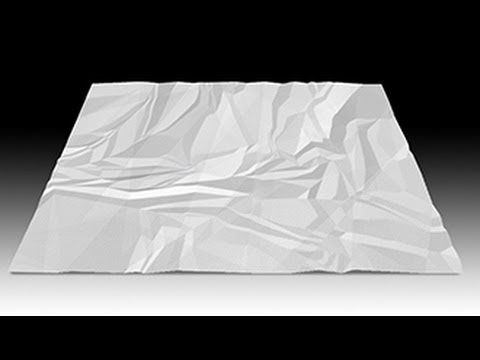 Photoshop Tutorial: How To Make Crumpled Paper From Scratch