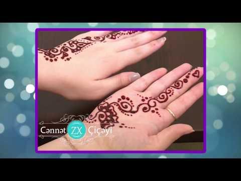 xına bəzəkləri 8 / henna design / Cənnət çiçəyi xınayaxdı