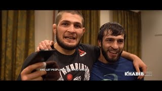 Khabib, Islam and team at UFC St. Petersburg!