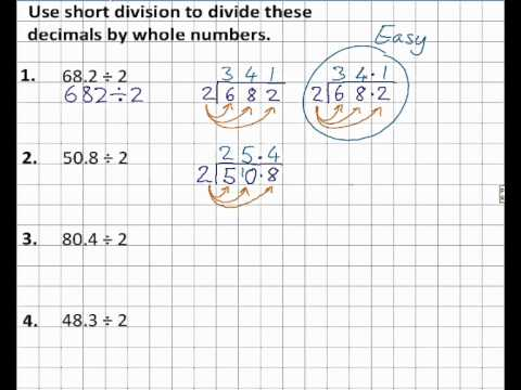 Divide a decimal by a whole number homework 14 4