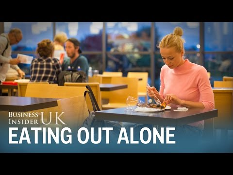 An Oxford professor gives 3 reasons why eating alone at restaurants is becoming more acceptable