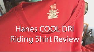 Motorcycle Riding Shirt Hanes Cool Dri Review