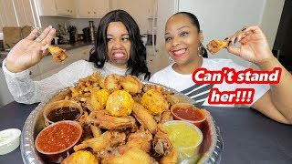 FRIED CHICKEN WINGS MUKBANG WITH MY LEAST FAVORITE COUSIN!!