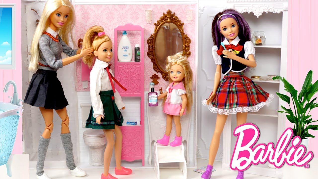 Download Barbie Dolls School Morning Routine - Dreamhouse Adventures Toys