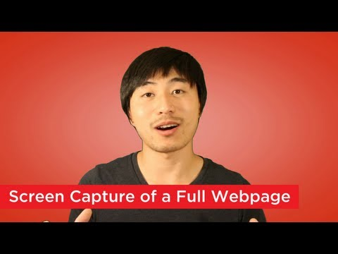How to Take a Screen Capture of a Full Webpage