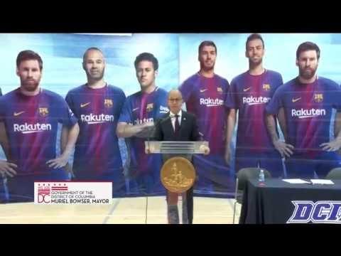 Mayor Bowser Announces DCPS Partnership w/ FC Barcelona, 7/26/17