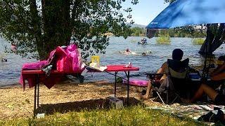 Америка.ЮТА. Поездка к озеру Pineview. Любимое озеро! Отдых в Америке.