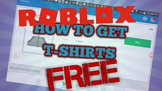 HOW TO GET FREE T-SHIRTS IN ROBLOX 2019!