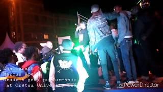 Marcus Apeks,Khaligraph Jones,Groovin Gang performance Gretsa  University