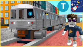 Johny's Roblox MTA Subway Train Ride & Roblox Subway Train Crash On Subway Life