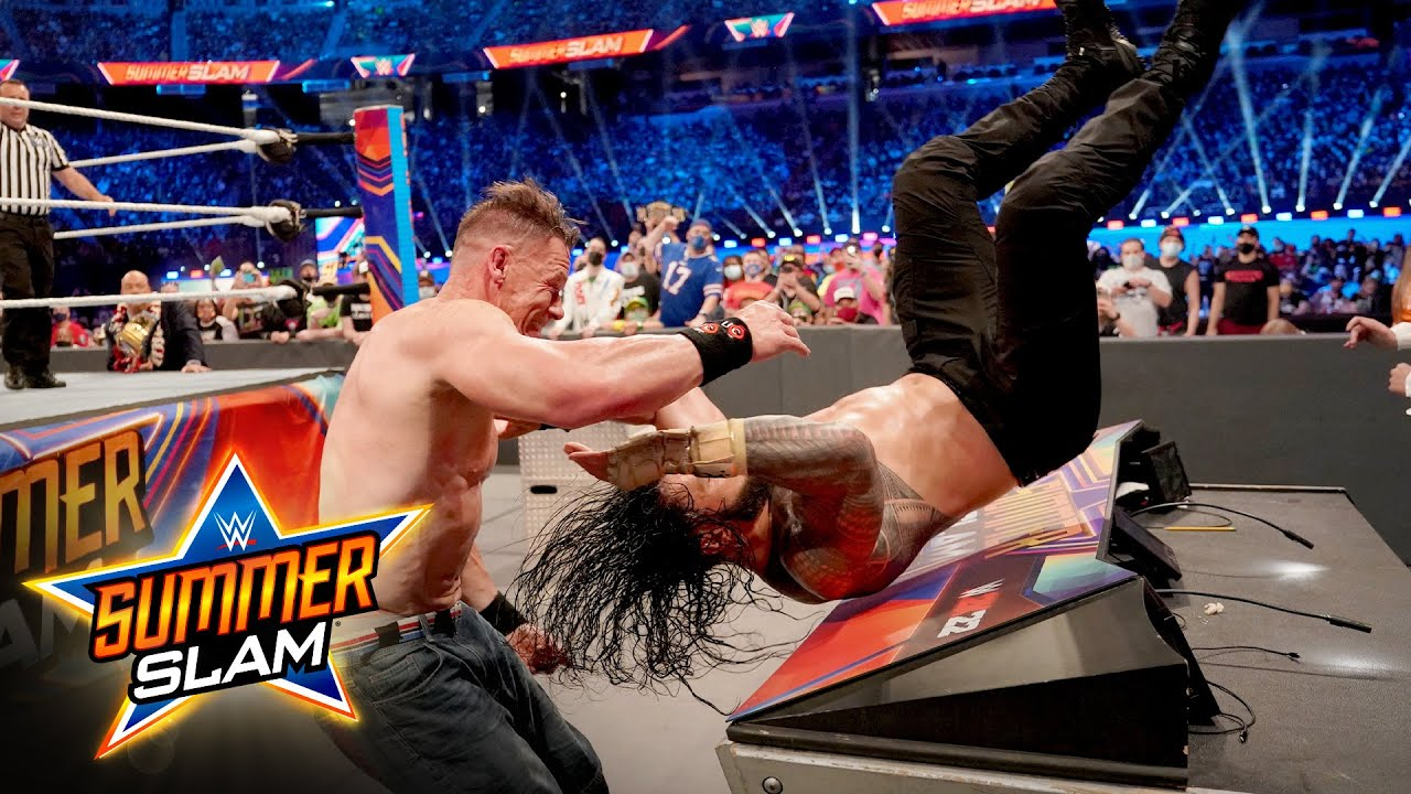 Download John Cena gives Roman Reigns a crushing Attitude Adjustment: SummerSlam 2021 (WWE Network Exclusive)