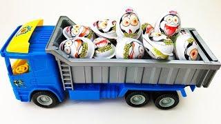 Truck with Eggs Toys for Kids Trucks for kids  Surprise Eggs Video for children Dump Truck
