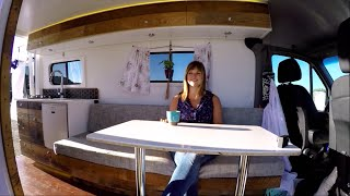 4x4 Sprinter Van Conversion - Full Camper Van Tour & Timelapse(I live full-time in a converted Mercedes 4x4 Sprinter Van. This video has the full tour my camper van conversion and all the information and ideas for designing ..., 2016-08-22T23:02:25.000Z)