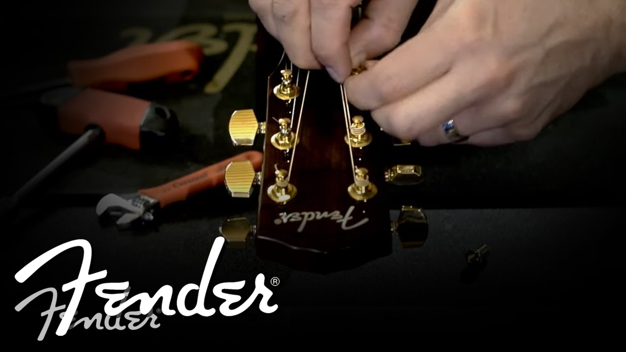 How To Changing Acoustic Guitar Machine Heads Fender Youtube