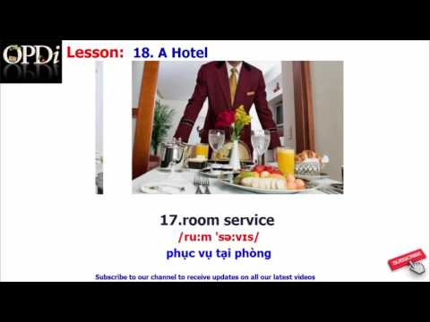 Oxford dictionary - 18. A Hotel - learn English vocabulary with picture