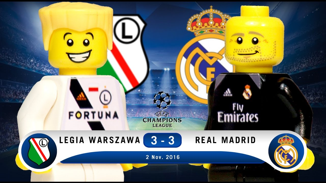 Lego Legia Warszawa 3 3 Real Madrid Champions League 2016 2017