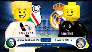 LEGO Legia Warszawa 3 - 3 Real Madrid Champions League 2016 / 2017 Group F
