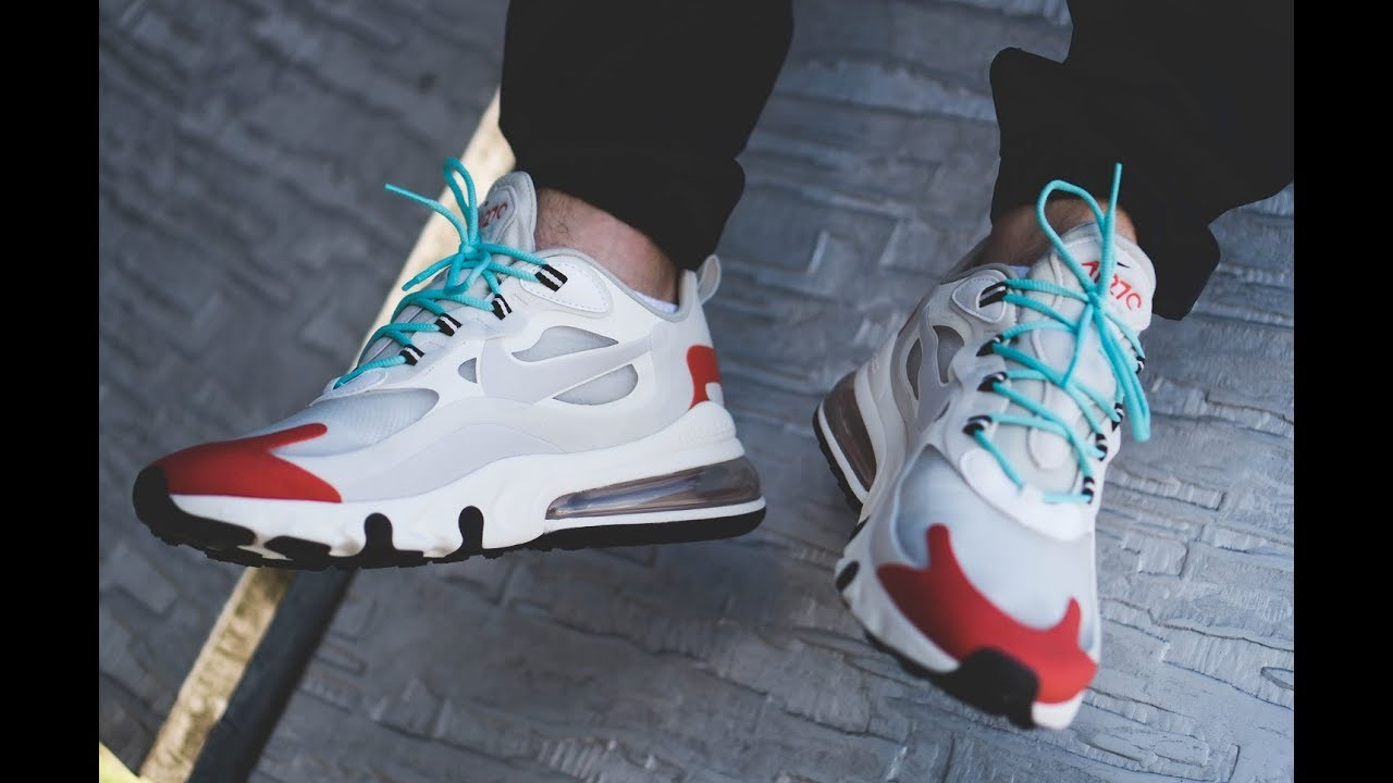 Nike Red White And Blue Air Max 270 React Sneakers