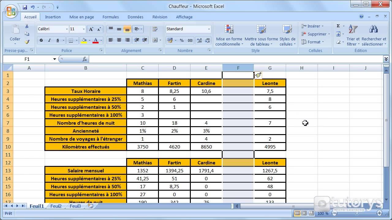 Comment insérer des colonnes dans un tableau avec Excel 2007 ? - YouTube