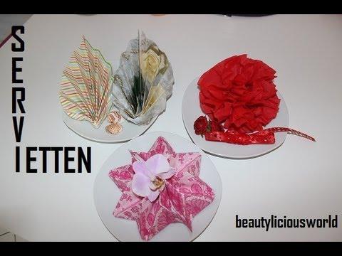Tischdeko:♥♥♥ Servietten falten ♥♥♥
