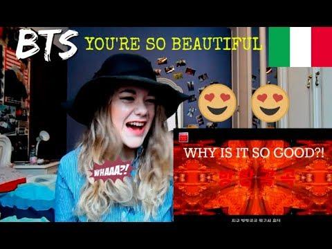 "Italian react to LOTTE DUTY FREE x BTS M/V ""You're so Beautiful"" [ENG SUB]"