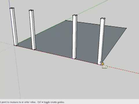 Drawing a Timber Frame in SketchUp (Part 1) - YouTube