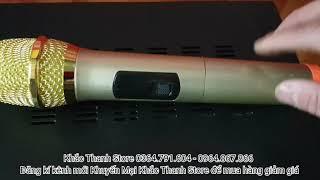 Trọn bộ karaoke điện 12v 220v giá rẻ chỉ 3 triệu 400 gồm amply, 2 micro không dây, 2 loa