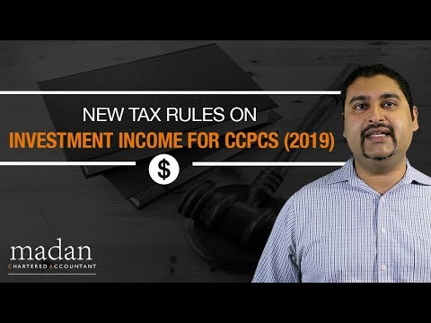 New Tax Rules On Investment Income For Canadian Controlled Private Corporations (2019)