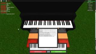 Fur Elise on a ROBLOX piano..