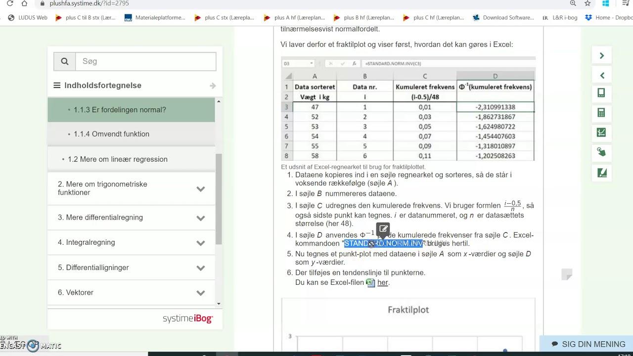 Normalfordeling QQ plot øvelse 1 1 12