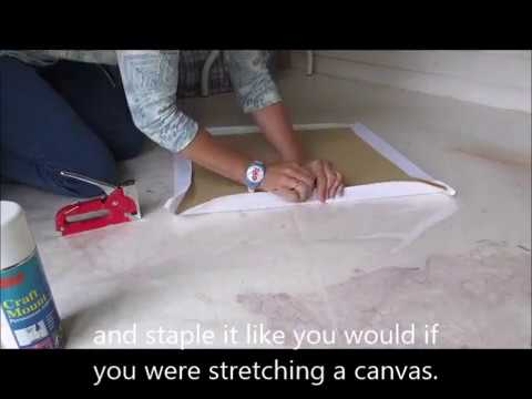 How to Make a Canvas Board for Artists