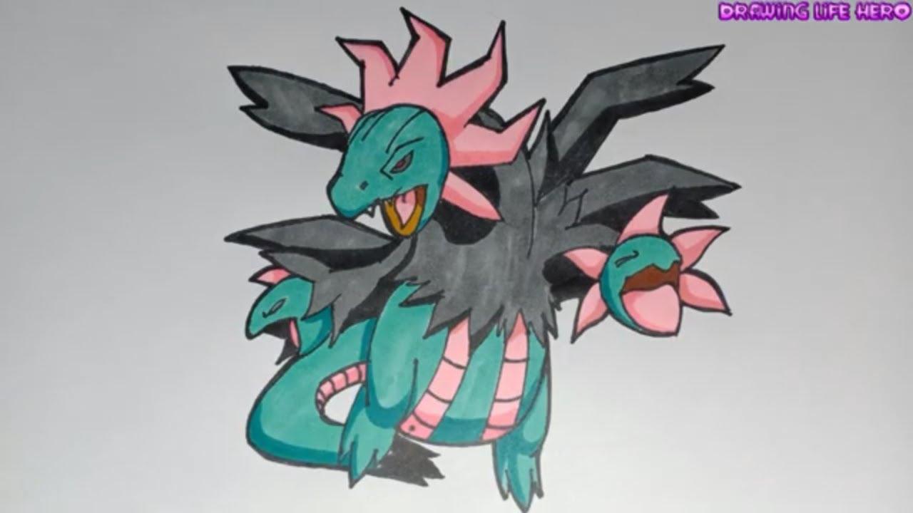 Cách Vẽ Pokemon Rồng 3 Đầu sazandora -DRAWING POKÉMON