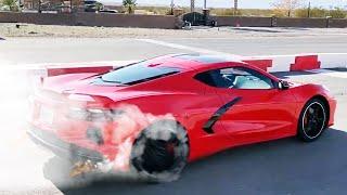 BEST C8 Mid Engine Corvette 0-60 Acceleration MPH Launch Control Compilation! 🔥🏁👍