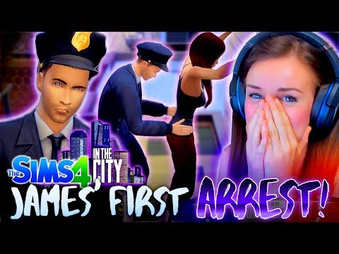 👮🏻JAMES' FIRST ARREST!? 🚔 (The Sims 4 IN THE CITY #3! 🏩)