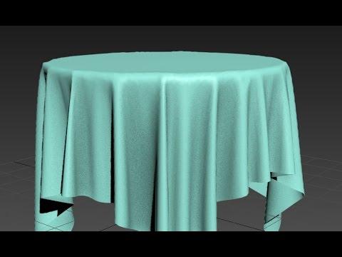 S Max Tutorial Cloth Modifier Tablecloth