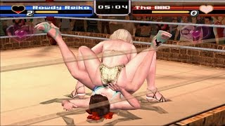 PCSX2 PS2 Rumble Roses Normal Match(Rowdy Reiko) Game Play - 플스2 럼블 로즈 일반 매치 게임 플레이
